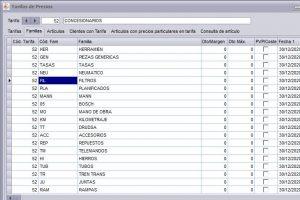 Software de facturación: crear tarifas