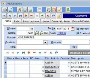 Programas de facturación:  Información del riesgo vivo de un cliente