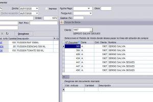 programa facturacion: ventana de paso de albaran a pedido