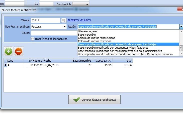 Creación de una factura rectificativa con GestFuturo.
